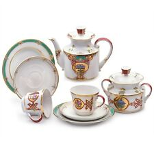Russian Imperial Lomonosov Porcelain Tea set Byzantium 6 pers 20 pcs
