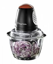 Russell Hobbs Desire Mini Chopper Electric Vegetable Onion Dicer Glass Bowl