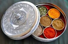 CelebrityChef Smita Chandra's Indian Spice Tins - HandCrafted Steel Masala Dabba