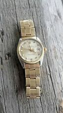 ROLEX OYSTER PERPETUAL DATE STAINLESS STEEL & GOLD AUTOMATIC WRISTWATCH 1505