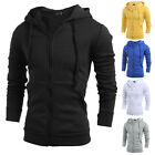 Mens Slim Long Sleeve Hoodie Warm Hooded Sweatshirt Coat Sweater Outwear Tops