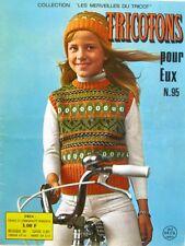 Revue de mode Catalogue de tricot - Tricotons pour eux n°95 - Année 60 -