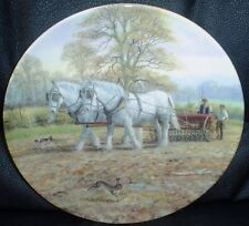 Royal Doulton Collectors Plate THEIR DRILL TO THE FURROW Shire Horse Plate