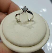 Anello Solitario oro bianco modello Valentino  diamante naturale  AFFARONE STOCK