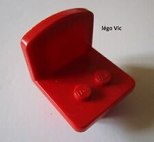 Lego Fabuland 4222a Chaise Chair Red Rouge du 4167 3647 3663 3675 3636 ...