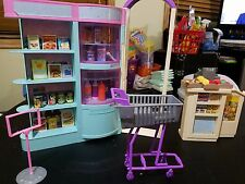 Barbie Doll Grocery Store Talking Shopping Cart & Talking Cash Register
