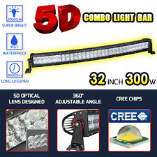 "5D Cree Curved Led Work Light Bar Spot Flood 32""Inch 300W Offroad 4WD Truck ATV"
