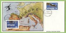 Gibraltar 1978 Europe frm space sheet on First Day Cover
