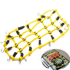 Roof Rack Cargo Elastic Net Hooks For RC 1/10 AXIAL SCX10 RC4WD Car Truck Yellow