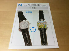 Press Release SVEND ANDERSEN - EROS - French Driving - Watch NOT Included