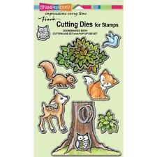 New Stampendous DIE MATCHES FOREST ANIMALS MATCHES STAMP SET free usa ship