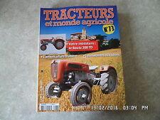 FASCICULE TRACTEURS ET MONDE AGRICOLE N° 73 BAUTZ 300 TD G42