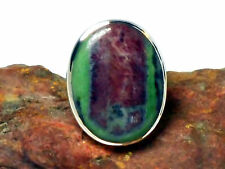 RUBY / Zoisite    Sterling  Silver  925   RING   -  P / 7.5   -   Gift  Boxed!