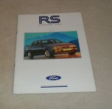 Ford RS Brochure 1990 Ed 1 - Escort RS Turbo & Sierra RS Cosworth 4X4