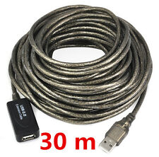 30m/98FT Long USB Active Repeater Extension Extender Cable Lead USB2.0 480mbps