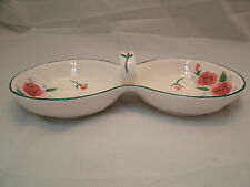 Otagiri Mary Ann Baker ROSES 2 Part Relish Candy Dish Bowl Raised Floral Japan