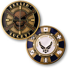U.S. Air Force / Feelin' Lucky - USAF Brass Challenge Coin