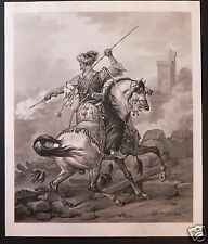 Vernet Jazet aquatinte etching  Mamelouk  1823 arabian Horse cheval Arabe