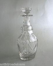 Glas Karaffe Biedermeier-Stil, geschliffen, Glaswaren Kristallglas H:23cm