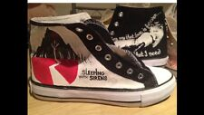 SLEEPING WITH SIRENS HAND PAINTED HIGH TOPS CUSTOMISED TO ORDER