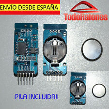 arduino precision clock watch DS3231SN AT24C32 IIC economic with battery button