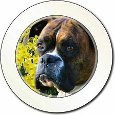 Boxer Dog with Daffodils Car/Van Permit Holder/Tax Disc Gift, AD-B27DAT