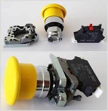 Drucktaster ZB4-BC5 & Befestigungsflansch & Kontaktblock ZBE-1025, neuwertig!