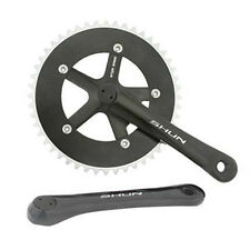Black Shun 48T Alloy 170 Single Speed Fixed Gear Track Fixie Crankset Crank Set