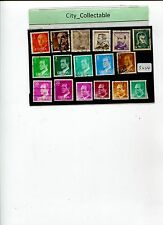 17 PCS SPAIN FAMOUS PEOPLE USED STAMPS # S224