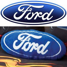 Ford Logo Blue Filled Decorative Cushion - Great Gift Idea for any Ford Fan!