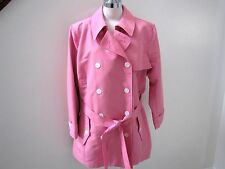 NWT's Ralph Lauren gorgeous bright pink belted raincoat  3X