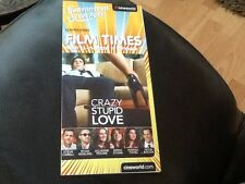 CINEWORLD CINEMA WHATS ON . 2 PAGE ADVERTISING GIVEAWAY . CRAZY STUPID LOVE  NEW