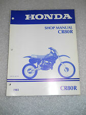 HONDA CR80R 1983 OFFICIAL SHOP  SERVICE REPAIR MANUAL