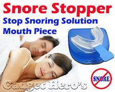 Sleep Apnea Help Aid Snore Stopper, Food Grade EVA, Mouth Piece, Bruxism Support
