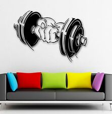 Vinyl Decal Dumbbell Muscled Sport Gym Arm Fitness Wall Stickers (ig1063)