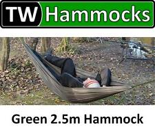 Tenth Wonder Compact Green Camping/Bushcraft Hammock 2.5m TW Hammocks