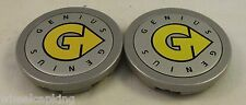 Genius Wheels Silver Custom Wheel Center Cap Caps Set of 2 # PCH61 NEW!