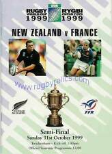 New Zealand v France semi-final 1999 RUGBY WORLD CUP PROGRAMME, RWC