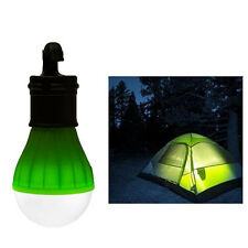 Outdoor Portable Hanging LED Camping Tent Light Bulb Fishing Lantern Lamp Green