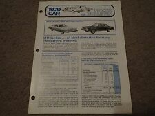1979 FORD LTD LANDAU SALES OPPORTUNITIES RARE DEALER FACTS BULLETIN BROCHURE