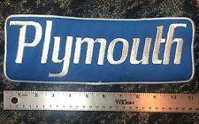 """Hot Rod Patch Vtg Plymouth Back Size 11"""" Hot Rod Mechanic Sales Service Jacket"""
