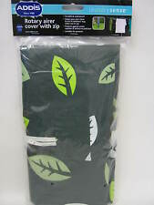 New Addis Waterproof Rotary Line Airer Dryer Cover Green Leaves Pattern 508199