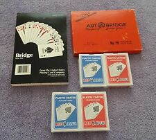 AutoBridge Contract Bridge Auto Four Handed  Book.1959  Score Pad  4 Cards