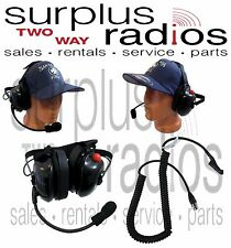 New Dual Ear Racing Headset For Motorola Radios XPR6300 XPR6350 XPR6500 XPR6550