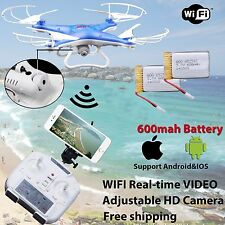 WIFI Camera Drone FPV 2.4Ghz 4CH 6-Axis RC Quadcopter HD RTF Explorer 2Battery r
