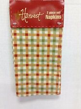 Harvest Fall Plaid Holiday Kitchen Dining Table Cloth Square Napkins Set 8