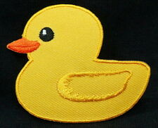 Cool Yellow DUCK Embroidered Iron On / Sew On Patches