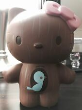 "Hello Kitty Wood Grain Vinyl Coin Bank 8"" Figure Sanrio Urban Outfitters Rare!"
