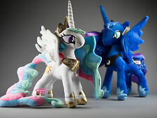MY LITTLE PONY PRINCESS CELESTIA & Princess Luna Plush Bundle qualità del Regno Unito STOCK