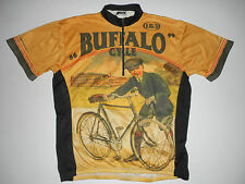 LOUIS GARNEAU 1/2 Zip CYCLING Jersey * BUFFALO CYCLE * Bicycle Vtg Mens : MD